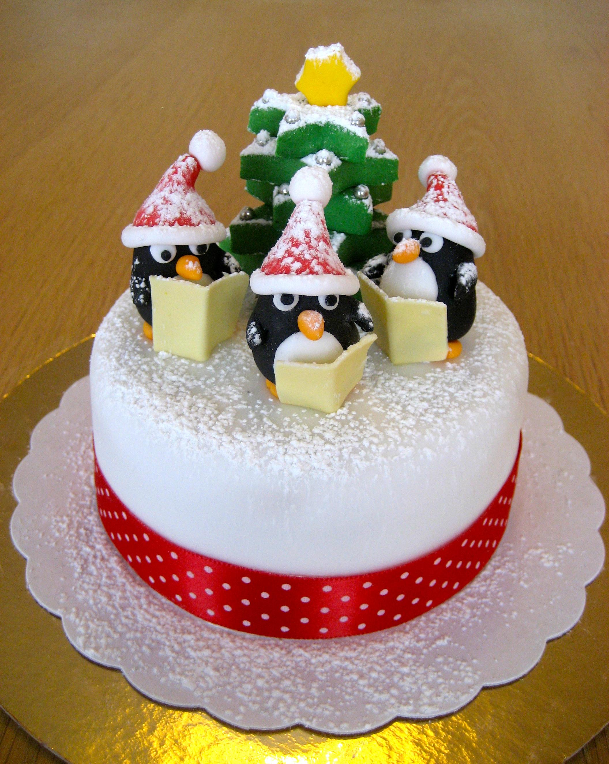 bolos decorados pinguins