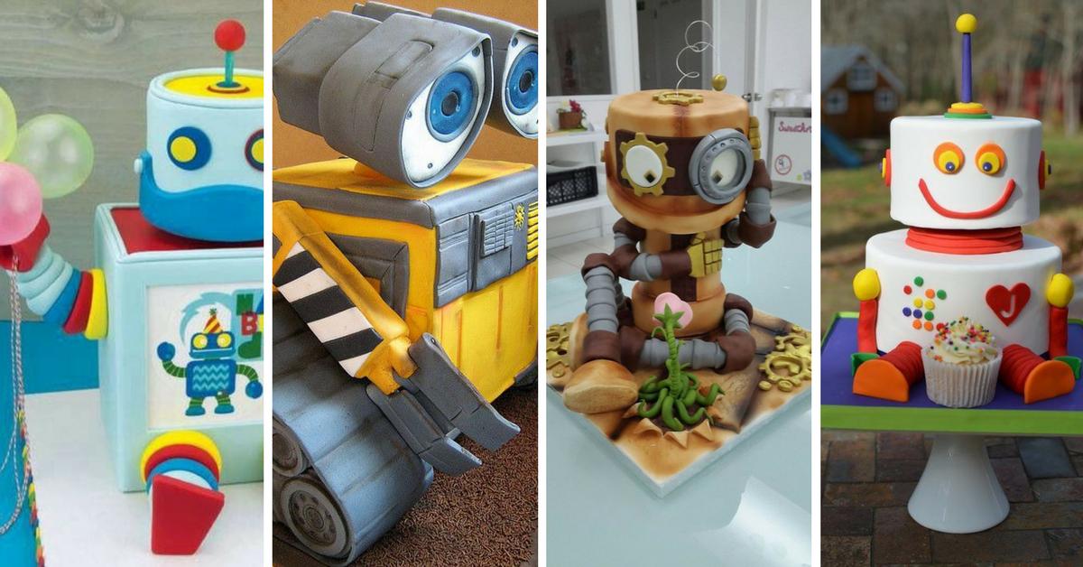 Bolos Decorados de Robôs