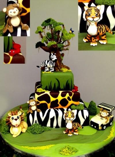 bolos decorados selva