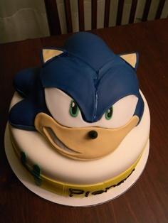 bolos decorados sonic