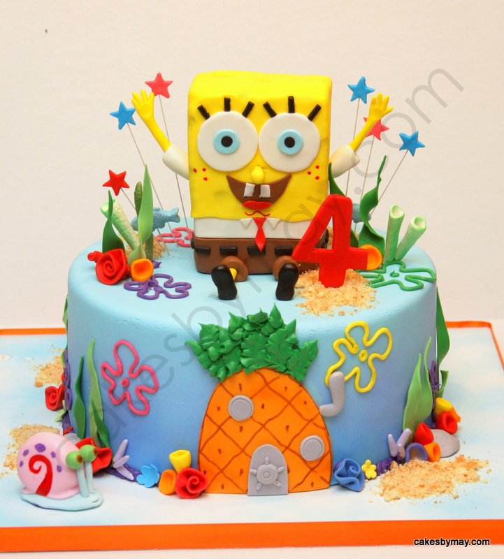 bolos decorados spongebob