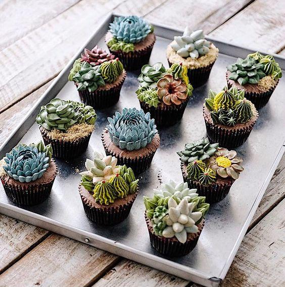 bolos decorados suculentas 1