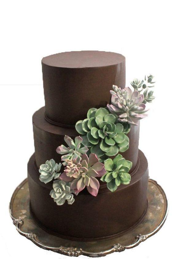 bolos decorados suculentas 13