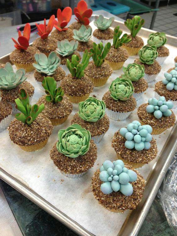 bolos decorados suculentas 14