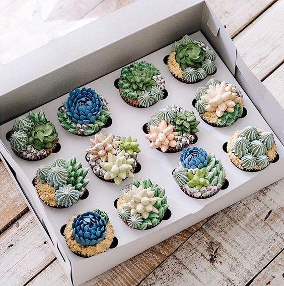 bolos decorados suculentas 3