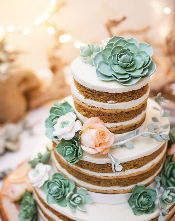bolos decorados suculentas 8