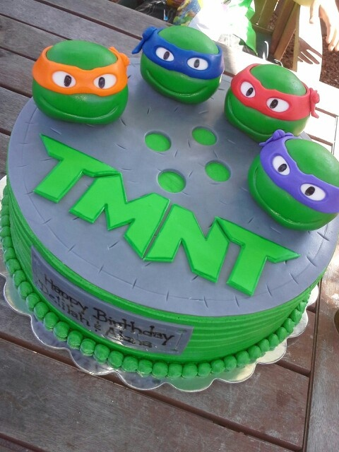 bolos decorados tartarugas ninja
