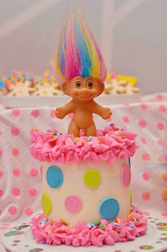 bolos decorados trolls 1