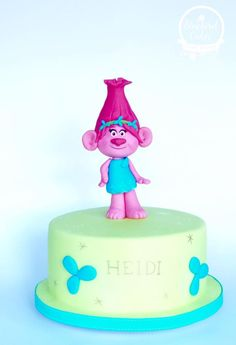 bolos decorados trolls 4