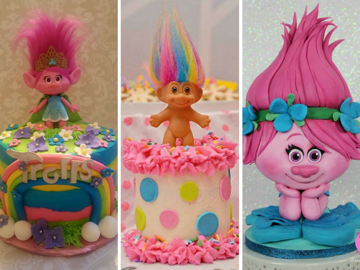 Bolos Decorados do Trolls
