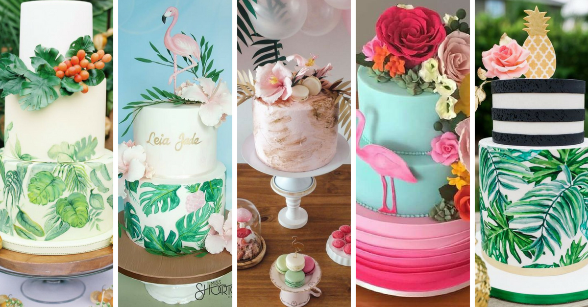 20 Bolos Decorados com o Tema Tropical