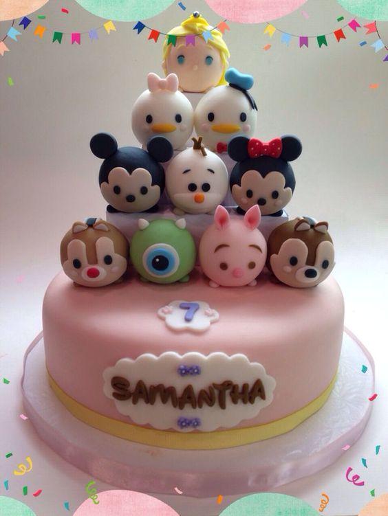 bolos decorados tsum tsum 1