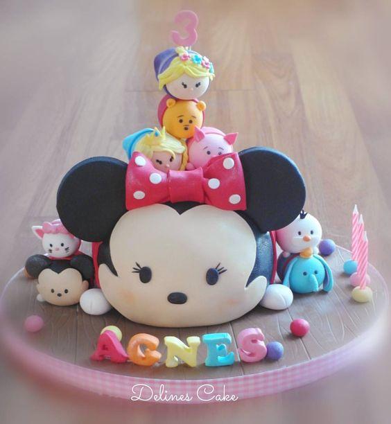 bolos decorados tsum tsum 2