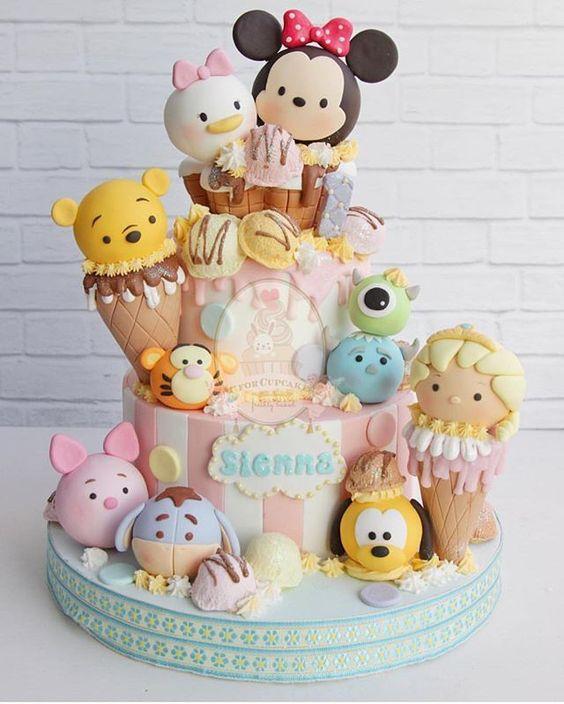 bolos decorados tsum tsum 3