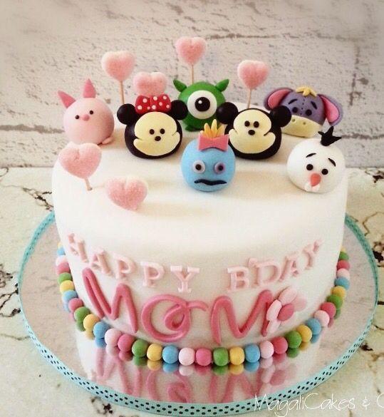 bolos decorados tsum tsum 4