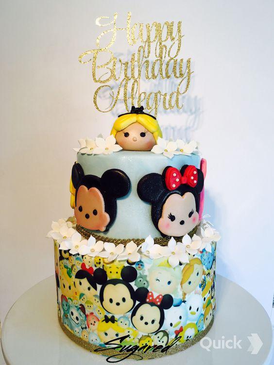 bolos decorados tsum tsum 8