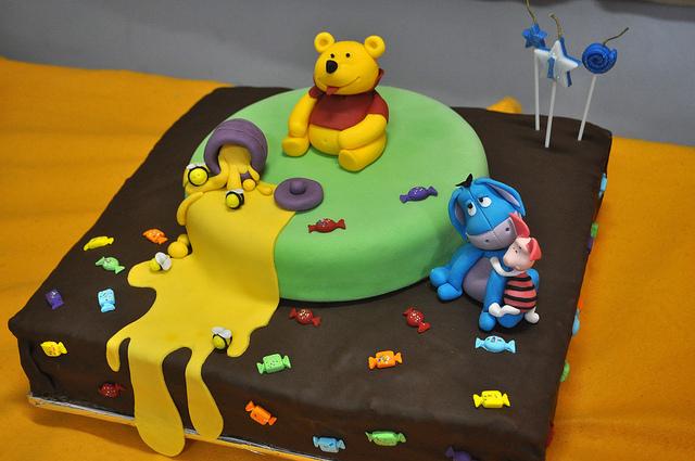bolos decorados winnie pooh