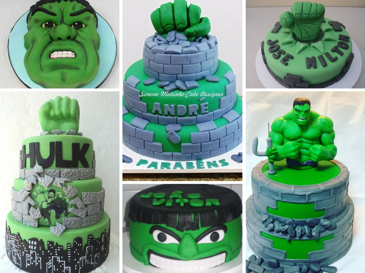 Bolos Decorados do Hulk