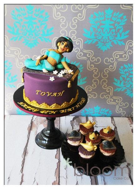 bolos jasmine e aladino decorados