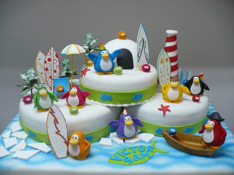 bolos pinguins decorados