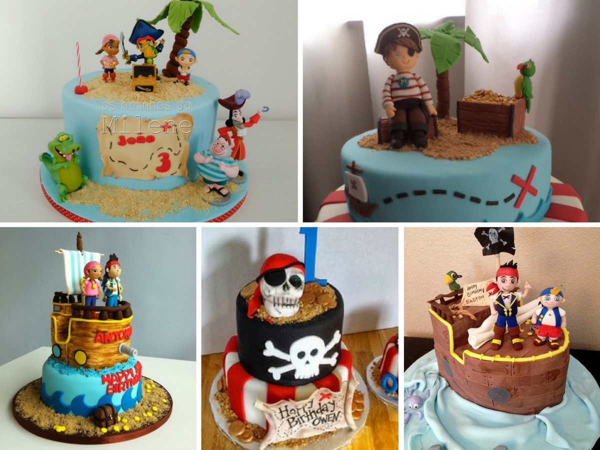 Bolos Decorados Piratas