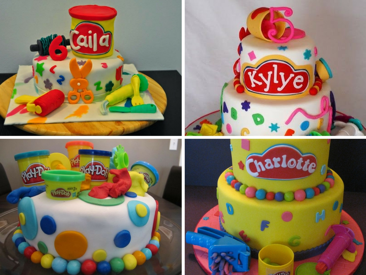 Bolos Decorados da Play Doh