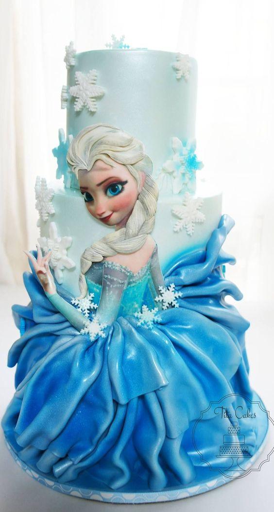 bolos princesa disney frozen