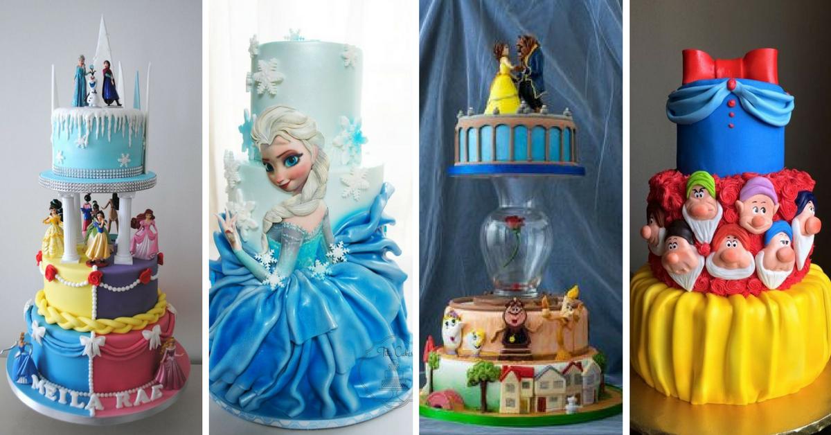 10 Bolos Fantásticos das Princesas da Disney