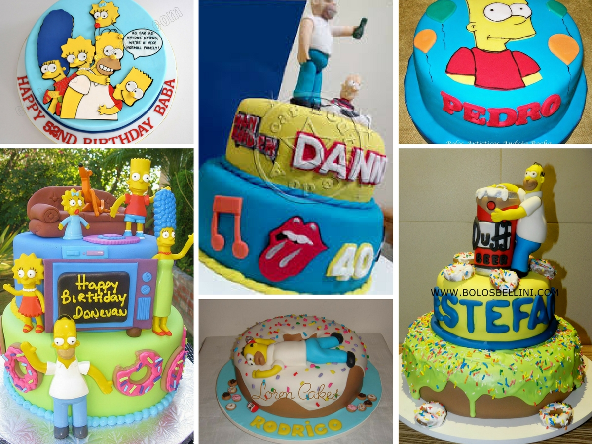 Bolos Decorados dos Simpsons