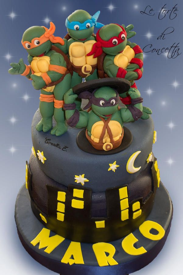 bolos tartarugas ninja decorados