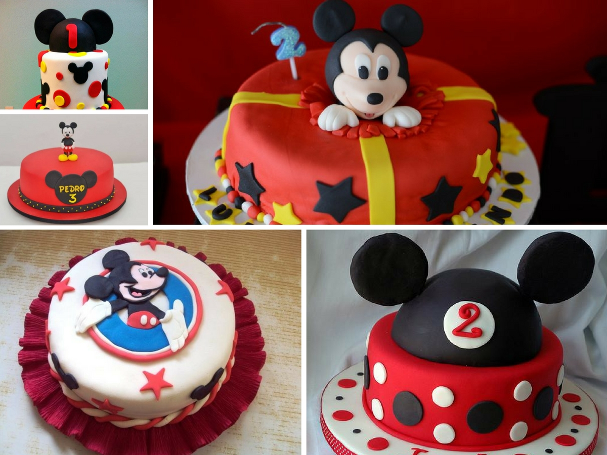 Bolos decorados do Mickey