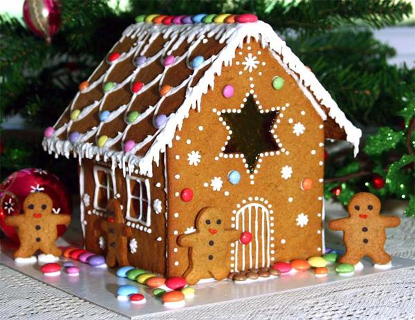 casas de biscoito natal