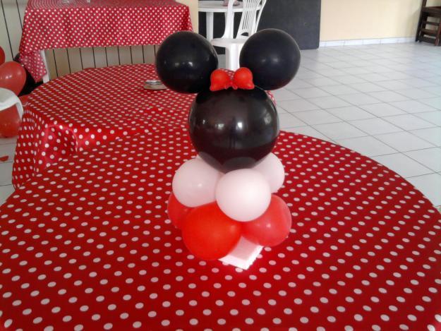 centro mesa decoraçao minnie
