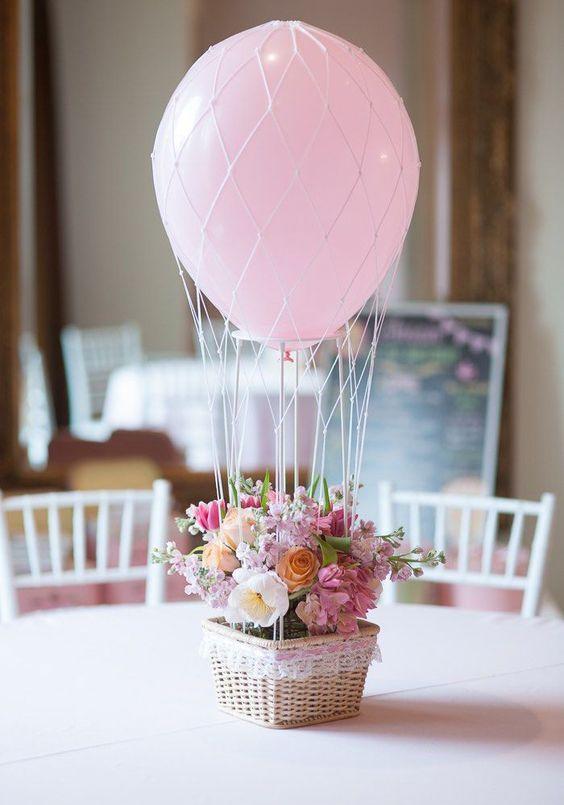 centro mesa festa balões