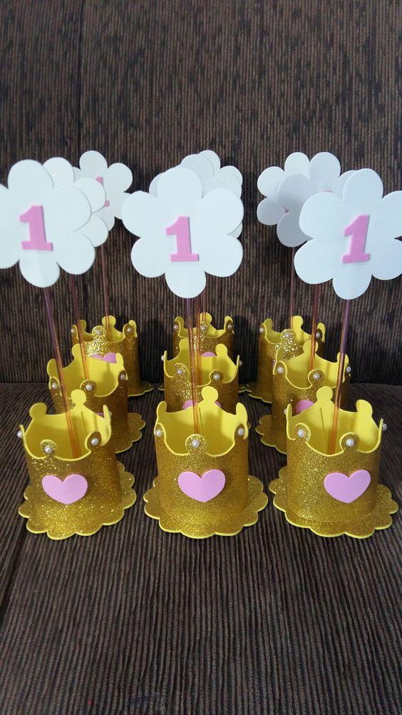 centro mesa festa bela coroa