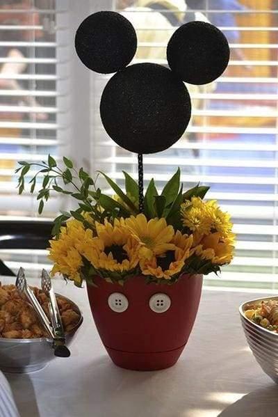 centro mesa festa mickey