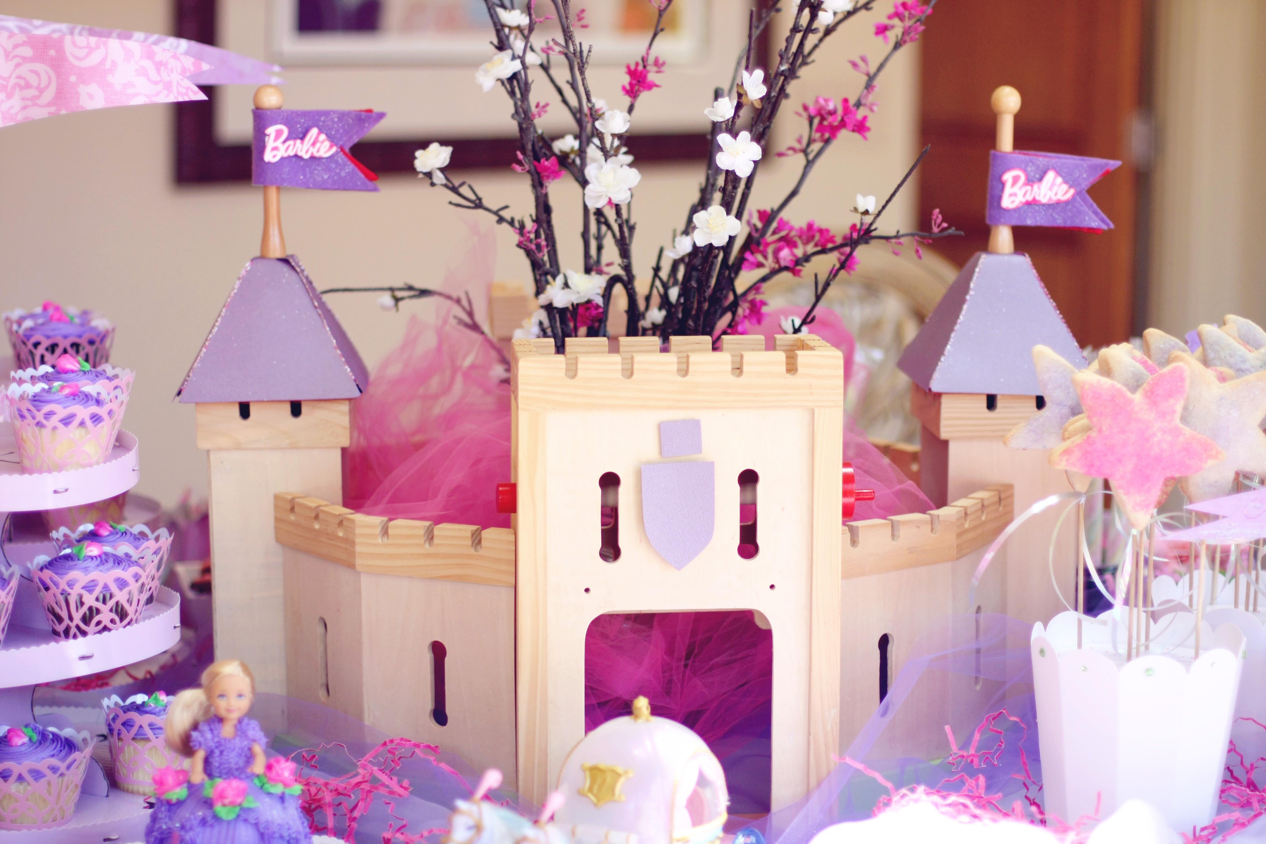 centro mesa festa princesa