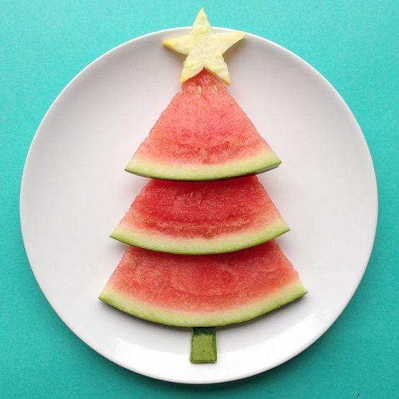 comida saudavel natal crianca melancia