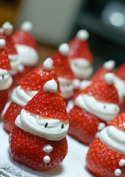 comida saudavel natal crianca papai noel