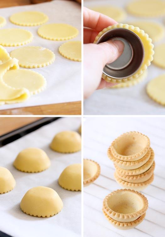 como moldar tortinhas