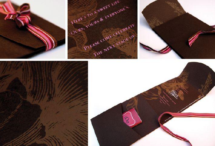 convite de festa comestivel chocolate