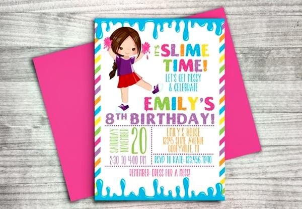 convite festa slime 1