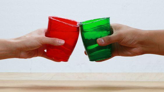 copos comestiveis gelatina passo passo