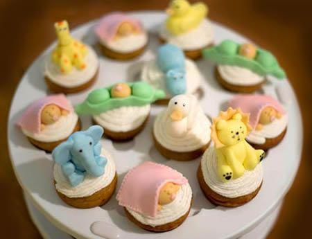 cup cakes para cha de bebe