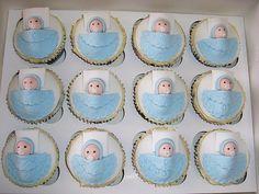 cupcake cha de bebe menino