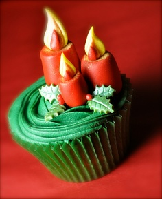 cupcake natal decorado