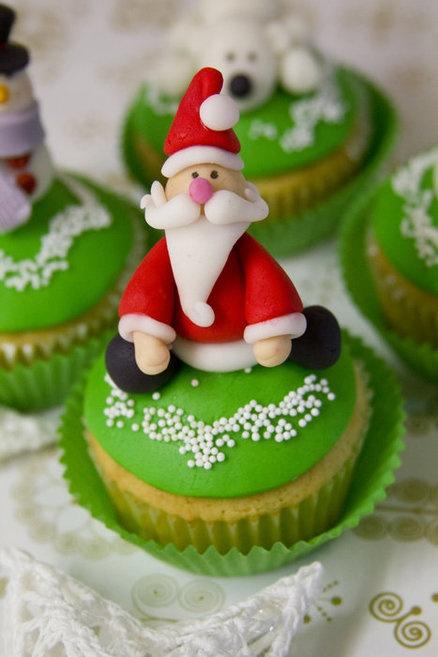 cupcake papai noel