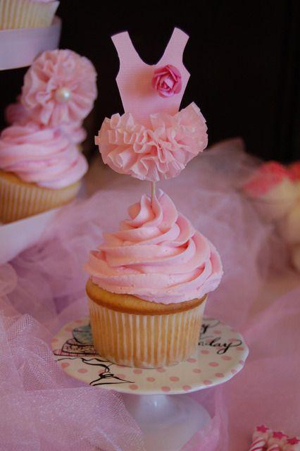 cupcakes cha bebe bailarina