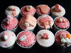 cupcakes cha de bebe menina