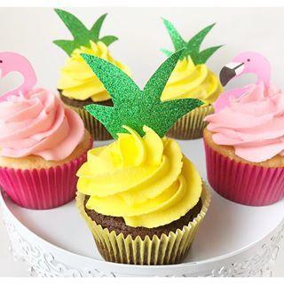 cupcakes frutas abacaxi flamingos